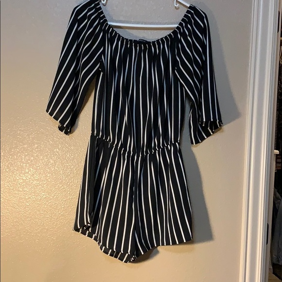 Ambiance Dresses & Skirts - Trendy black and white romper
